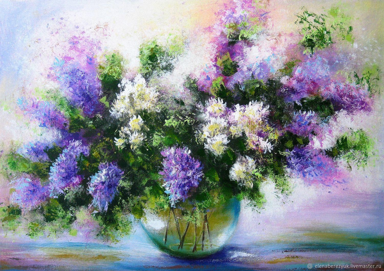 Original acrylic painting on canvas flowers – заказать на ...
