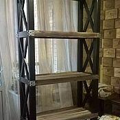 Для дома и интерьера ручной работы. Ярмарка Мастеров - ручная работа Стеллаж ЛОФТ для книг. Handmade.