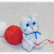 Войлочная игрушка ручной работы. Ярмарка Мастеров - ручная работа Котёнок из шерсти. Кот. Handmade.