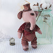 Stuffed Toys handmade. Livemaster - original item Pink Elephant Mr. Mayby. Handmade.