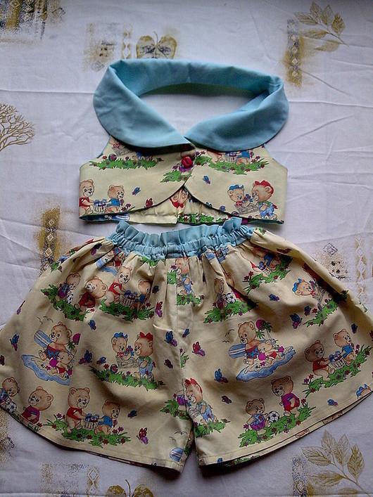 """Одежда для девочек, ручной работы. Ярмарка Мастеров - ручная работа. Купить """"Жаркое лето"""". Handmade. Для детей пошив, комплект"""