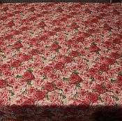 Для дома и интерьера ручной работы. Ярмарка Мастеров - ручная работа Скатерть с грязеотталкивающей пропиткой Розы. Handmade.