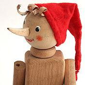 Куклы и игрушки ручной работы. Ярмарка Мастеров - ручная работа Деревянный Буратино (Пиноккио). Handmade.