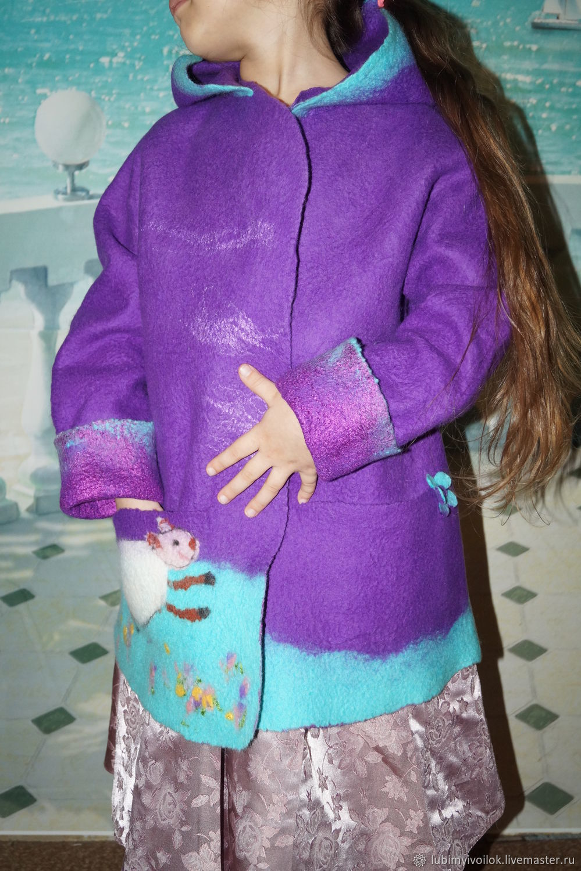 """Пальто валяное .Курточка жакет детский.""""В Сказке"""""""