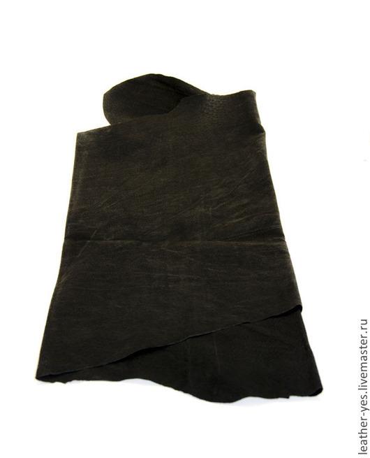 Шитье ручной работы. Ярмарка Мастеров - ручная работа. Купить Кожа натуральная, черная, E888. Handmade. Черный, кожа натуральная