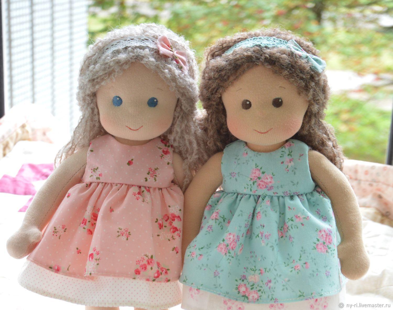Вальдорфская кукла Розочка и Мята, Вальдорфская игрушка, Таруса, Фото №1
