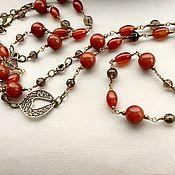 Украшения handmade. Livemaster - original item necklace with pendant talisman of love of carnelian and topaz. Handmade.