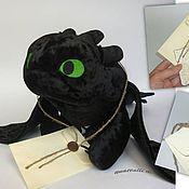Куклы и игрушки ручной работы. Ярмарка Мастеров - ручная работа Беззубик - Ночная Фурия дракон. Handmade.