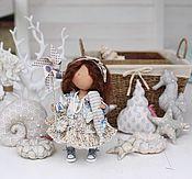 Куклы и игрушки ручной работы. Ярмарка Мастеров - ручная работа Текстильная кукла , Девочка с китом. Handmade.