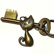 Аксессуары handmade. Livemaster - original item Keychain Cat key chain for bag. Handmade.
