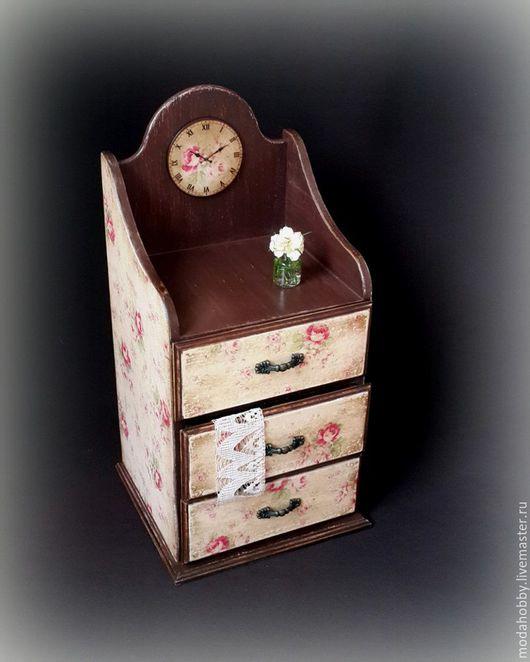 """Мини-комоды ручной работы. Ярмарка Мастеров - ручная работа. Купить Мини-комод """"Nostalgia"""". Handmade. Бежевый, ящик деревянный"""