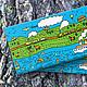 Handmade Business Cards handmade. Livemaster - handmade. Buy A set of cards 'the Journey'.Blue, animals