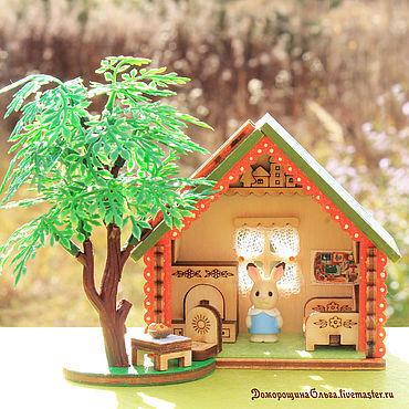 Куклы и игрушки ручной работы. Ярмарка Мастеров - ручная работа Домик миниатюра для sylvanian families mini. Handmade.