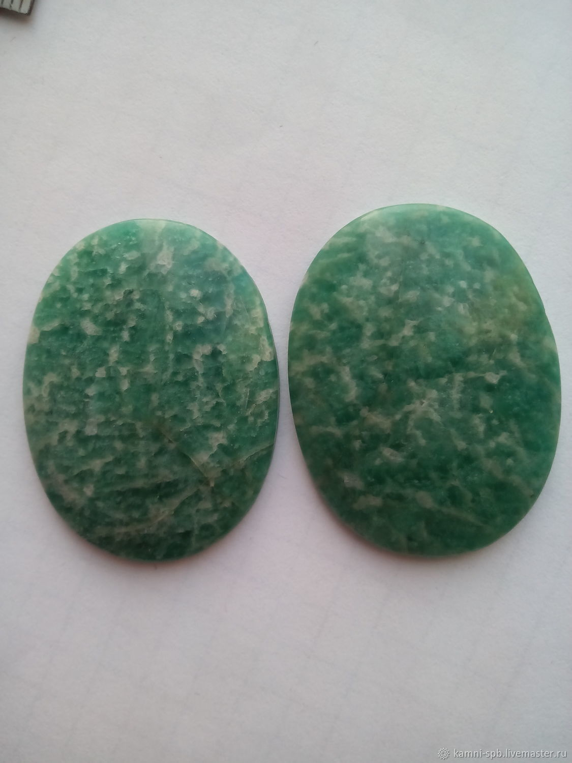 The amazonite. a pair of cabochons, Cabochons, St. Petersburg,  Фото №1