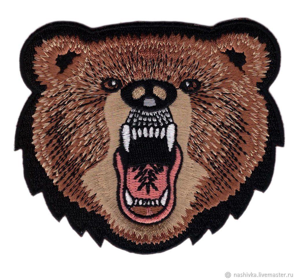 Screaming Bear Decorative Patch Нашивка, Аппликации, Москва,  Фото №1