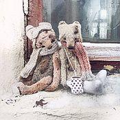 Куклы и игрушки ручной работы. Ярмарка Мастеров - ручная работа 19 см - Монти к зиме готовы - мишки тедди. Handmade.
