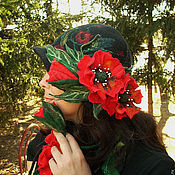 """Аксессуары ручной работы. Ярмарка Мастеров - ручная работа Валяная шляпка """" Ворожея"""". Handmade."""