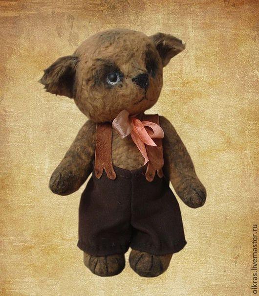 Мишки Тедди ручной работы. Ярмарка Мастеров - ручная работа. Купить Кот Вреднюля. Handmade. Коричневый, тедди медведи, вискоза