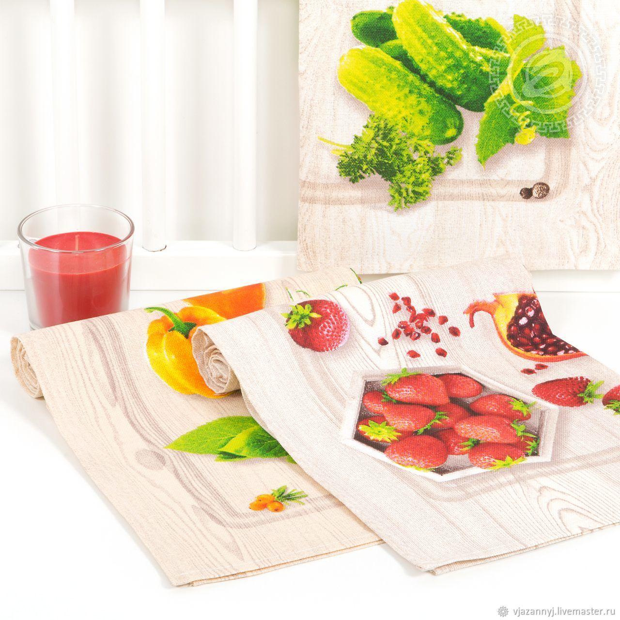 Set of towels made of matting SEASON ART 3 pcs multicolored, Towels, Moscow,  Фото №1