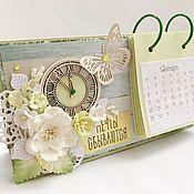 Канцелярские товары ручной работы. Ярмарка Мастеров - ручная работа Календарь настольный «Мечты сбываются». Handmade.