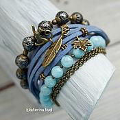 """Украшения handmade. Livemaster - original item Красивый,стильный женский браслет с камнями """"Заветные мечты"""". Handmade."""