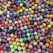 Материалы для творчества ручной работы. Ярмарка Мастеров - ручная работа Бусины 8 мм декоративные  серебряная спираль. Handmade.