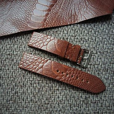 Accessories handmade. Livemaster - original item Ostrich paw strap 20/20mm and 22/22mm. Handmade.