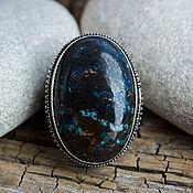 handmade. Livemaster - original item The Royal ring (a ring) with chrysocolla
