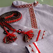 Русский стиль handmade. Livemaster - original item Russian shirt for boy. Handmade.