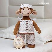 Куклы и игрушки ручной работы. Ярмарка Мастеров - ручная работа Обезьянка Маруся в пижаме - символ 2016 года. Handmade.