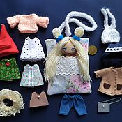 Куклы и игрушки handmade. Livemaster - original item Play sets: pocket doll,textile,game, with clothes. Handmade.
