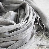 """Аксессуары ручной работы. Ярмарка Мастеров - ручная работа Новозеландский палантин """"Весенняя песня """" светло серый серый. Handmade."""