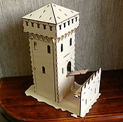 Stuffed Toys handmade. Livemaster - original item Elements of a medieval castle: Tower fire support. Handmade.