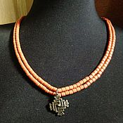 Украшения handmade. Livemaster - original item Necklace: Zgarda,ceramic namisto, imitation coral. Handmade.