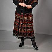 Одежда ручной работы. Ярмарка Мастеров - ручная работа Вязаная жаккардовая юбка. Handmade.