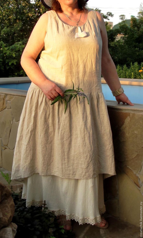 Платье сарафан марлевка