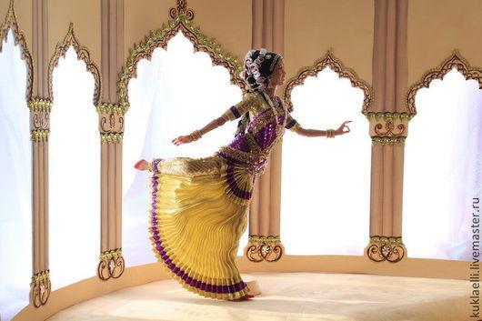 Коллекционные куклы ручной работы. Ярмарка Мастеров - ручная работа. Купить Кукла Индианка, танец Бхаратанатьям. Handmade. Индианка, текстиль