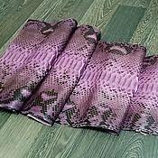Материалы для творчества handmade. Livemaster - original item Python skin, the color of the shade foxy, apparel and soft dressing.. Handmade.
