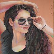 Картины и панно ручной работы. Ярмарка Мастеров - ручная работа Портрет по фото пастелью, 30х40. Handmade.