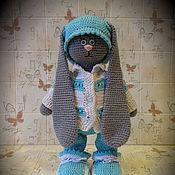 Куклы и игрушки ручной работы. Ярмарка Мастеров - ручная работа Стёпка  (кукла заяц тильда большеножка вязаный). Handmade.