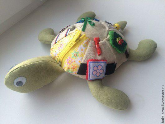 Развивающие игрушки ручной работы. Ярмарка Мастеров - ручная работа. Купить Развивающая черепашка. Handmade. Зеленый, развивающая игрушка, молния