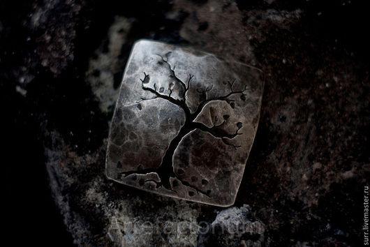 """Кулоны, подвески ручной работы. Ярмарка Мастеров - ручная работа. Купить Кулон """"Осень"""" (№108). Handmade. Темно-серый, серебряный"""