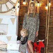 Одежда ручной работы. Ярмарка Мастеров - ручная работа Цветочное платье для мамы и дочки. Handmade.