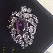 Винтаж handmade. Livemaster - original item Amethyst brooch vintage. Handmade.