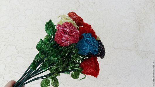 Цветы ручной работы. Ярмарка Мастеров - ручная работа. Купить Розы из бисера. Handmade. Комбинированный, цветы из бисера