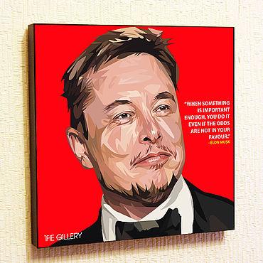 Souvenirs and gifts handmade. Livemaster - original item Picture Poster Elon Musk Pop Art. Handmade.