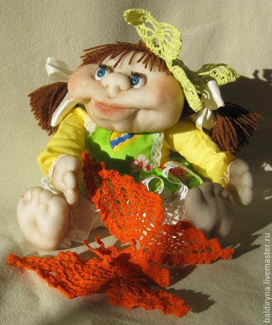 Человечки ручной работы. Ярмарка Мастеров - ручная работа. Купить Кукла чулочная авторская Настенька. Handmade. Разноцветный, девочка с бабочкой