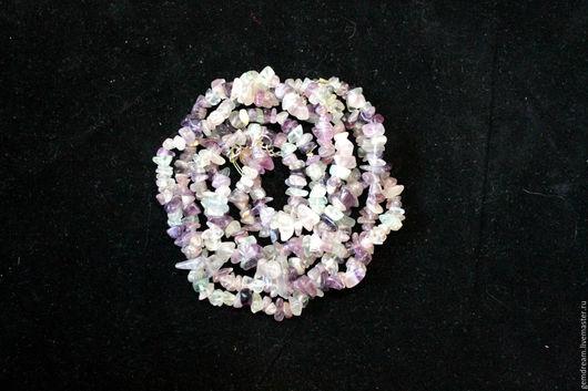 Колье, бусы ручной работы. Ярмарка Мастеров - ручная работа. Купить Ожерелье из натурального флюорита. Handmade. Украшение на шею