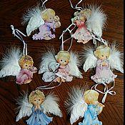 Подарки к праздникам ручной работы. Ярмарка Мастеров - ручная работа Bradford, коллекционные фарфоровые украшения ангелочки. Handmade.