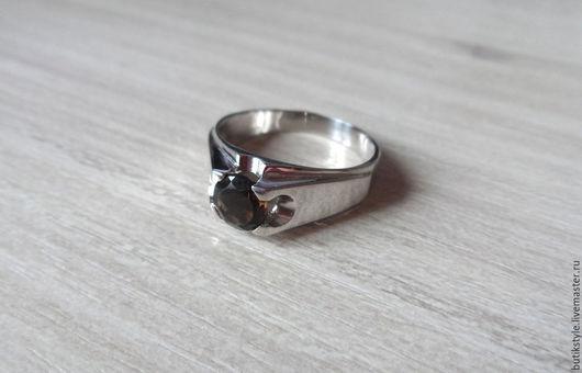 Кольца ручной работы. Ярмарка Мастеров - ручная работа. Купить Серебряное кольцо с натуральным раухтопазом. Handmade. Серебряный, родирование